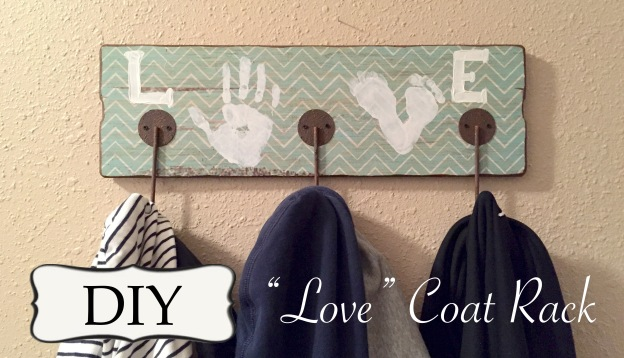 DIY Love Coat Rack