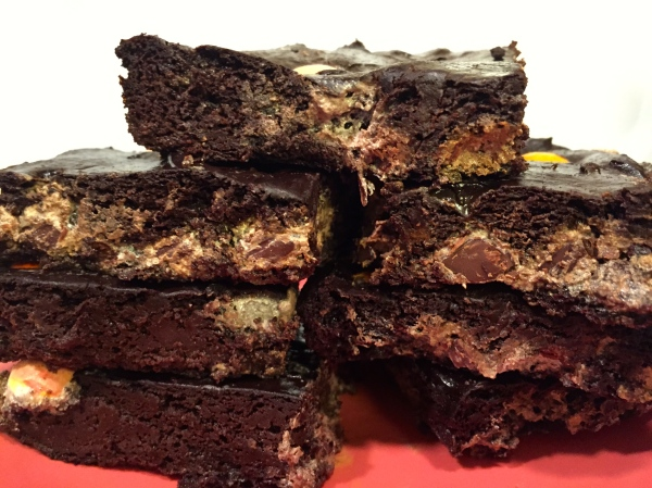Marbled Chocolate Avocado Brownie Bars