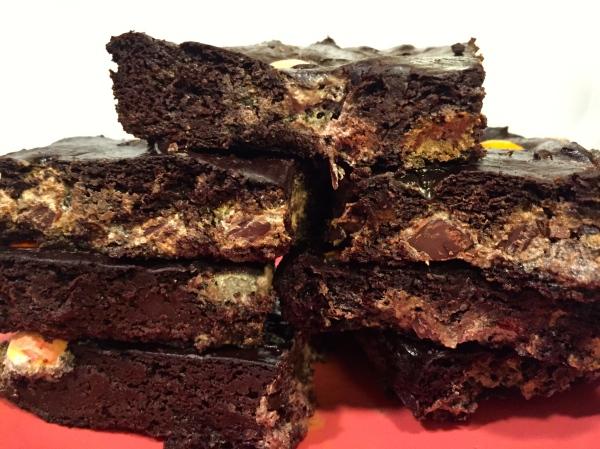 Marbled Chocolate Avocado Brownie Bars