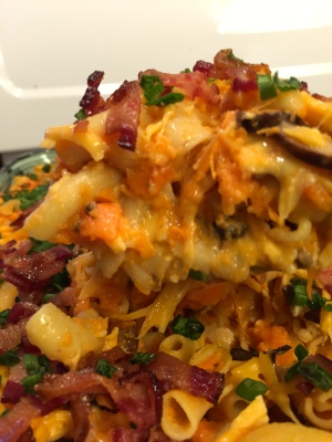 Healthy, gluten-free, dairy-free sweet potato mac-n-cheese