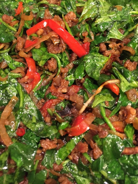 Savory Sausage and Spinach