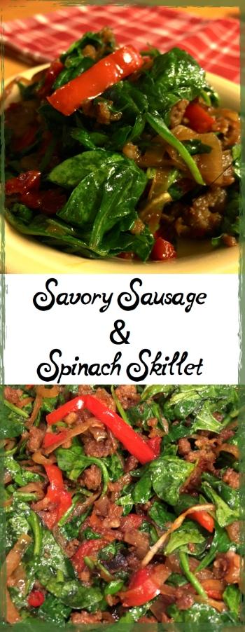 Savory Sausage & Spinach Skillet